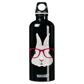 Funny Hipster Easter bunny with red rim glasses SIGG Traveller 0.6L Water Bottle