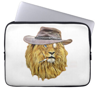 Funny Hipster Lion Laptop Sleeve
