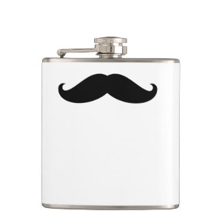 Funny Hipster Mustache Hip Flask