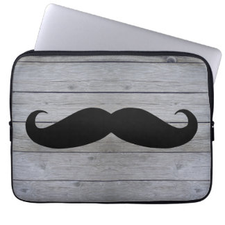 Funny Hipster Mustache Laptop Computer Sleeve