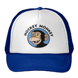 Funny Hockey Monkey Hats