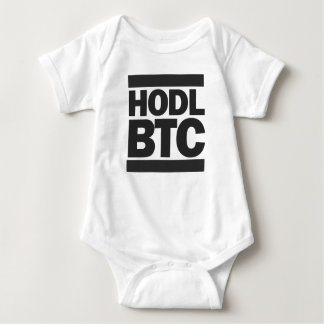 Funny HODL BTC Bitcoin Cryptocurrency Print Baby Bodysuit