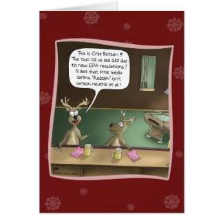 Funny Holiday Cards: The Layoff Card