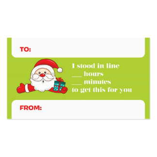 Funny Holiday Gift Tags Business Card Template