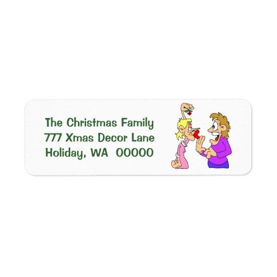 Funny Holiday Joke Xmas Envelope  Labels