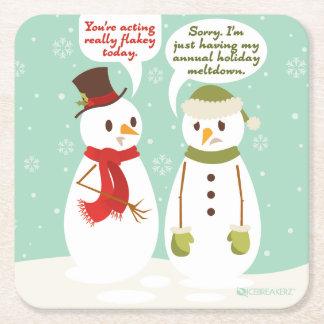 FUNNY HOLIDAY MELTDOWN CHRISTMAS COASTERS