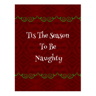 Funny Holiday'Tis The Season...Naughty' Postcard