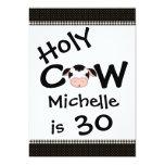 Funny Holy Cow 30th Birthday Party Invitation 13 Cm X 18 Cm Invitation Card