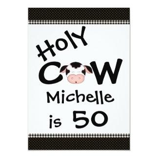 Funny Holy Cow 50th Birthday Party Invitation