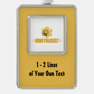 Funny Honey Silver Plated Framed Ornament