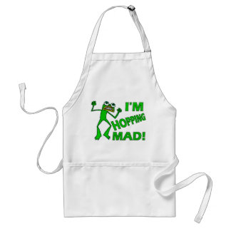 Funny Hopping Mad Frog Pun Standard Apron