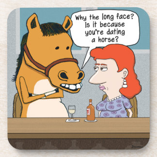 Funny Horse Asks Why the Long Face Coasters