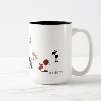 Funny Horse & Cow Cartoon Mug