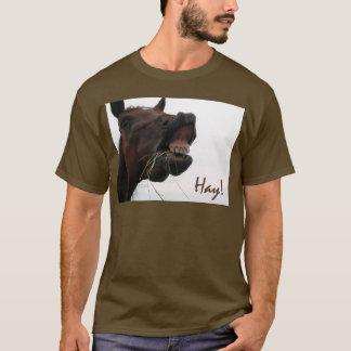 Funny Horse: Hay! T-Shirt