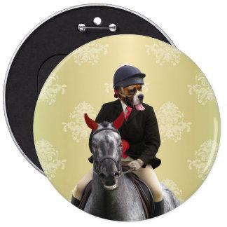 Funny horse rider character pin