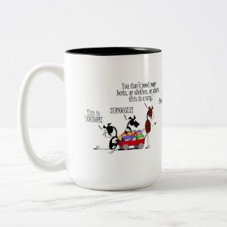 Funny Horse Shoe Shopping Cartoon Coffee Mugs