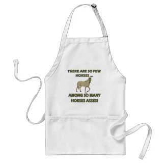 Funny Horses Asses T-shirts Gifts Adult Apron
