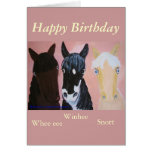 Funny horses cards Customise