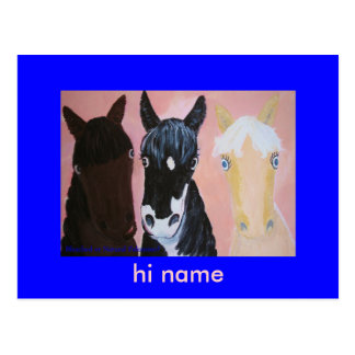 Funny horses cards Customize Postcards