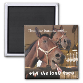 Funny Horses Magnet
