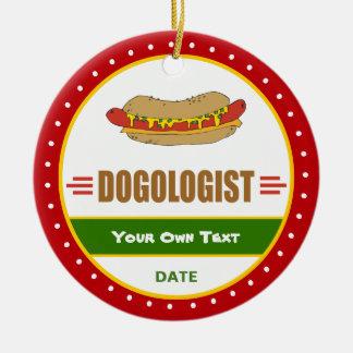 Funny Hot Dog Ceramic Ornament