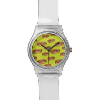 Funny Hot Dog Food Design Watch
