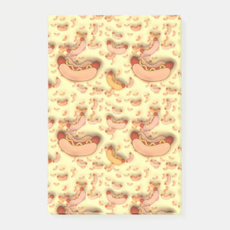 Funny Hot Dog Frankfurter Design Post-It Notes