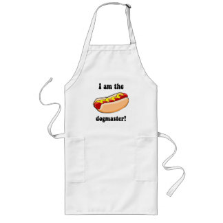 Funny hotdog long apron