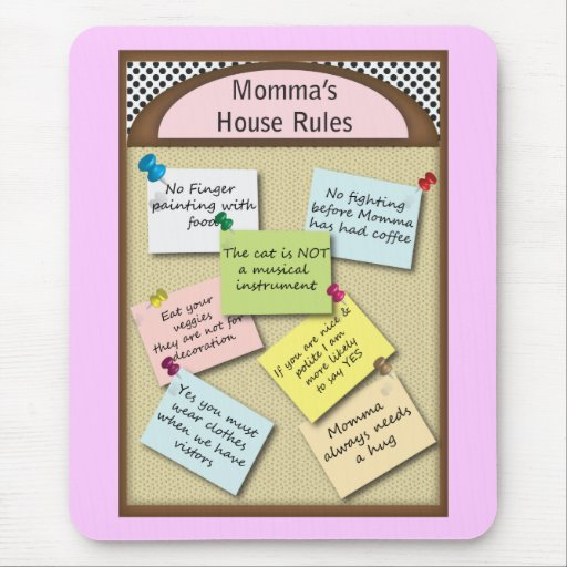 Funny  House Rules Mouse Pad