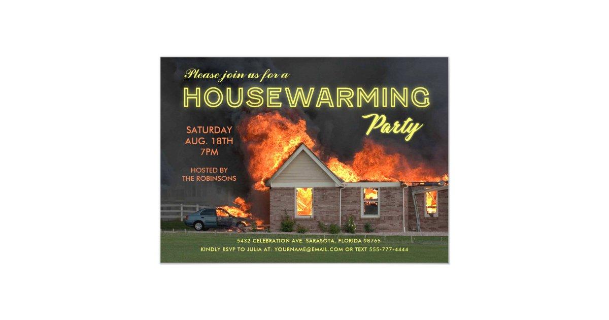 Funny Housewarming Party Invitations En Fuego Zazzle Com Au