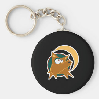 funny howling coyote keychain