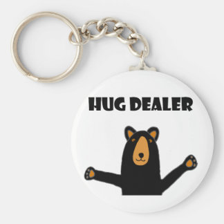 Funny Hug Dealer Black Bear Key Ring