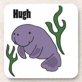 Funny Hugh Manatee Cartoon Coasters