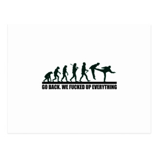 Funny Human Evolution Graphic Design Postcard