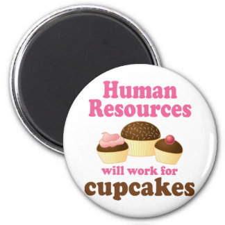 Funny Human Resources 6 Cm Round Magnet