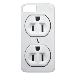 Funny Humor Joke Electrical Outlet Custom iPhone 7 Case