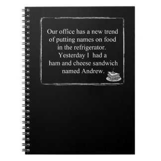 Funny Humor Notebook Office Lunch Mystery