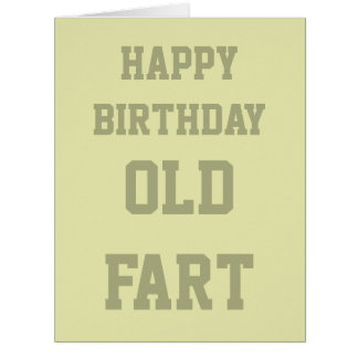 Funny Humorous Age Old Fart Birthday Card