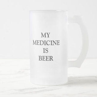 Funny Humors Products Frosted Glass Beer Mug