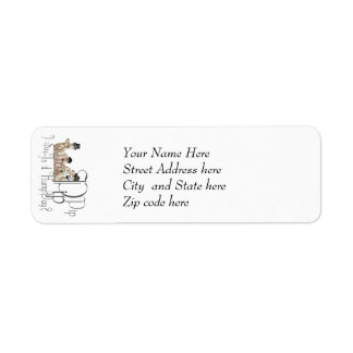 Funny Hump Day Camels  in Monocles Return Address Label