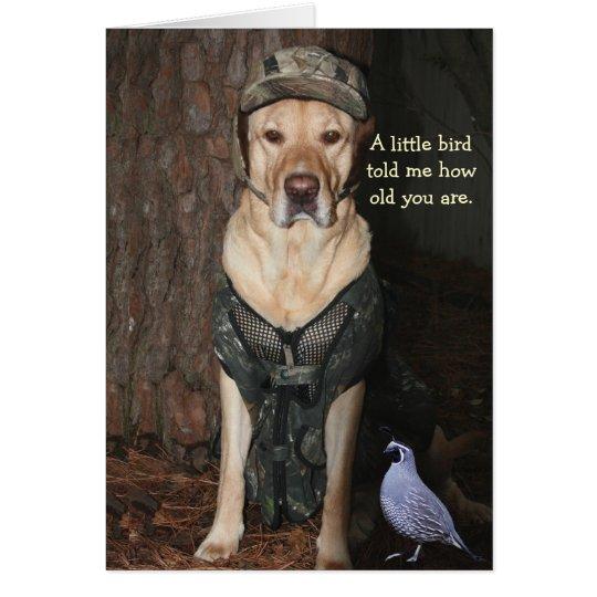 Funny Hunting Lab Birthday Card