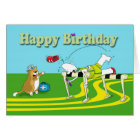 Funny hurdle Birthday Card