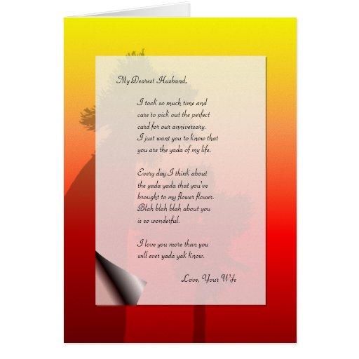 Funny Husband Anniversary Love Letter Yada Yak