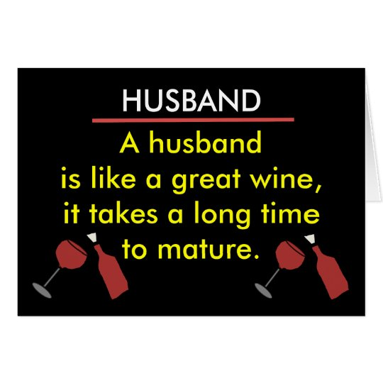 Funny Husband Wine Card