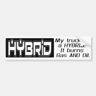 Funny HYBRID TRUCK Bumper Sticker