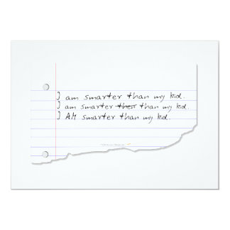 Funny I Am Smarter Than My Kid for Father or Mom 13 Cm X 18 Cm Invitation Card
