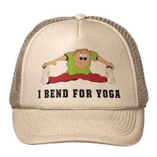 Funny I Bend For Yoga Men's Gift Hats