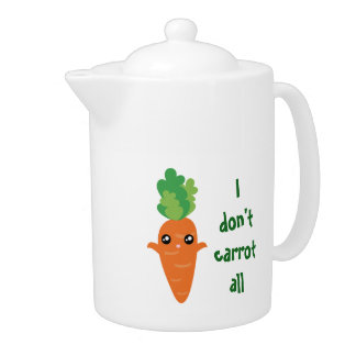 Funny I don't Carrot All Food Pun Humor Cartoon