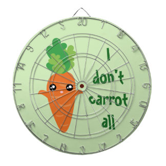 Funny I don't Carrot All Food Pun Humor Cartoon Dartboard