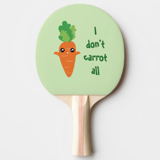 Funny I don't Carrot All Food Pun Humor Cartoon Ping Pong Paddle